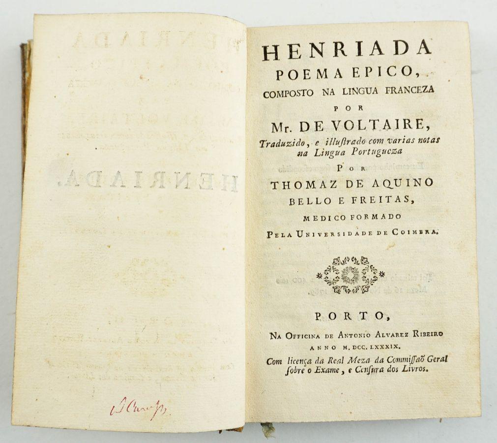 Tradução portuguesa de obra de Voltaire (1789)