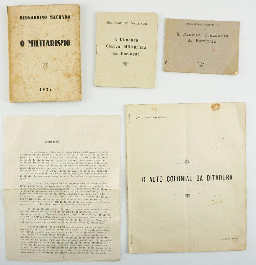 Bernardino Machado – manifestos e obras do Exílio