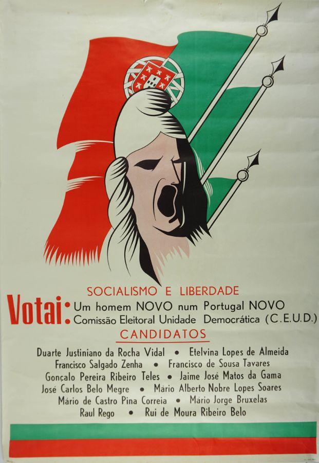 Cartaz da Comissão Eleitoral de Unidade Democrática (1969)