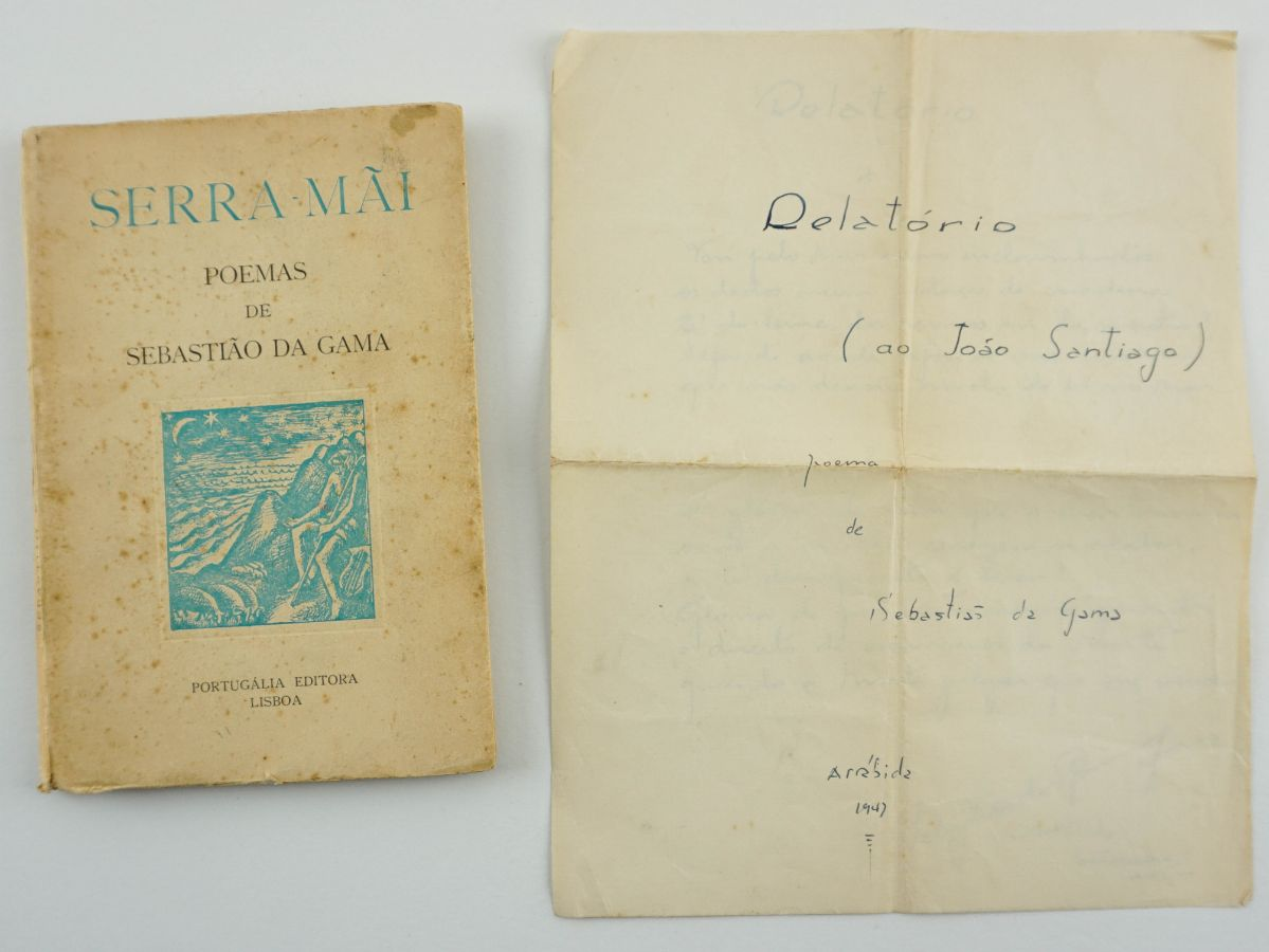 Sebastião da Gama – primeiro livro do autor e manuscrito