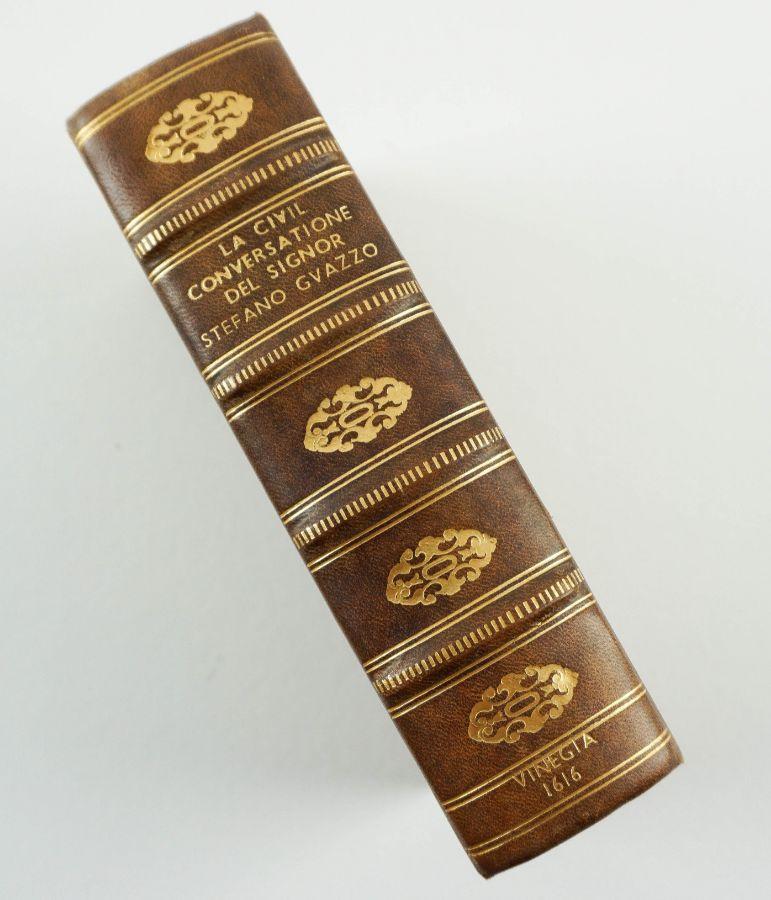 La Civil Convsersatione Del Signor Stefano Guazzo – edição de 1616