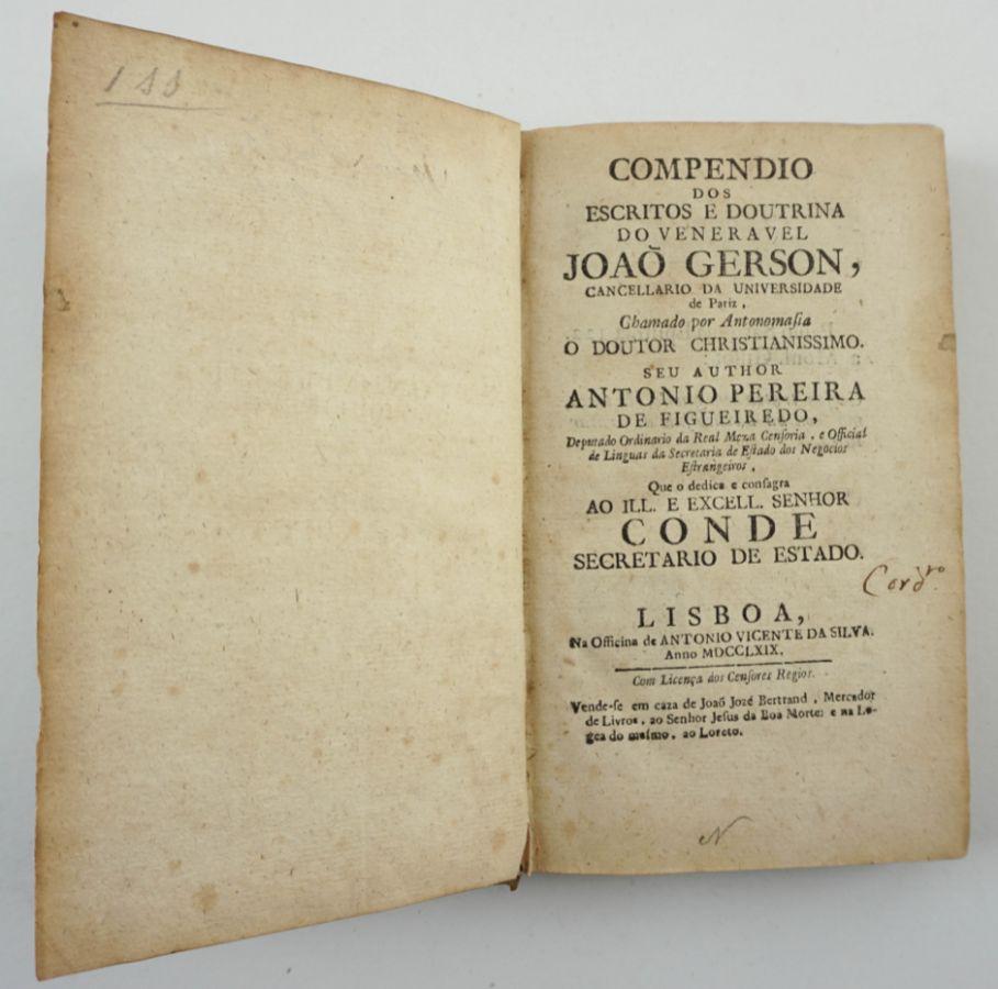 Compêndio dos escritos e doutrina do veneravel João Gerson