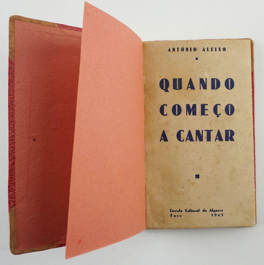 António Aleixo – Primeiro Livro do Autor