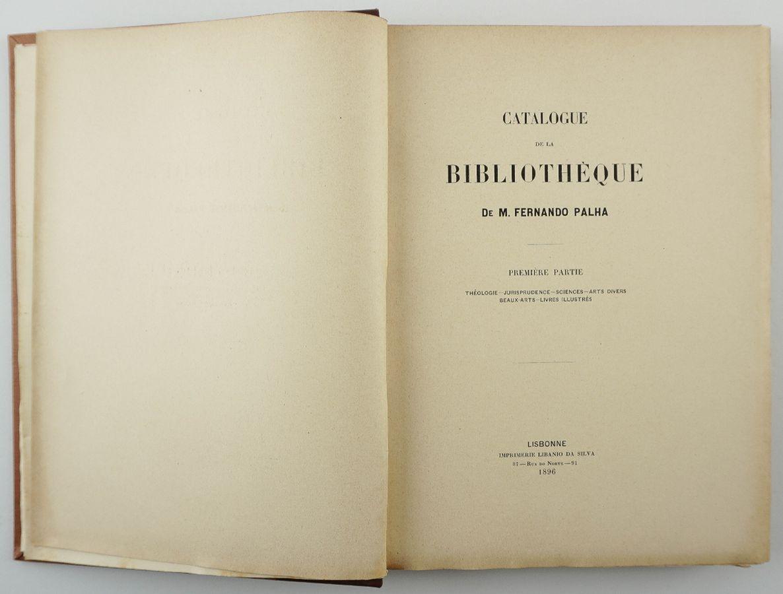 Catalogue de la bibliothèque de M. Fernando Palha