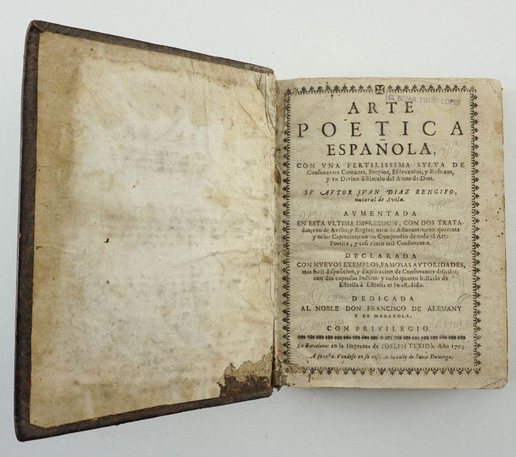 Arte Poetica Espanola – 1703