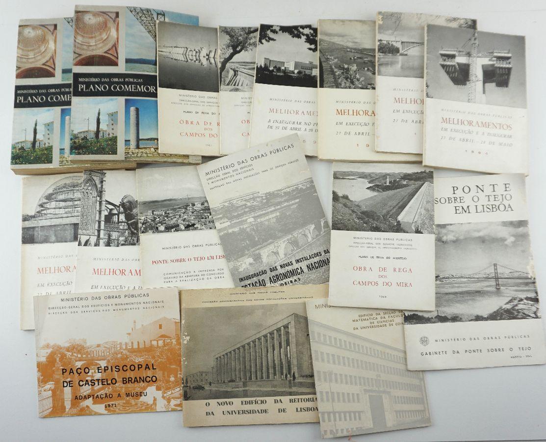 Ministério das Obras Públicas – Plano Comemorativo – 1966 e outras 15 publicações de obras do estado novo