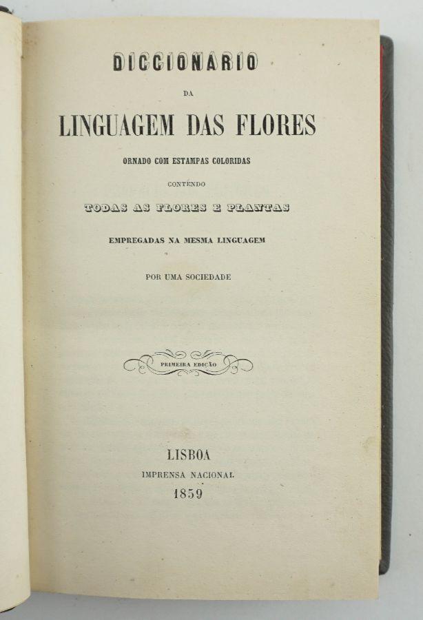 Dicionário da linguagem das flores, 1859