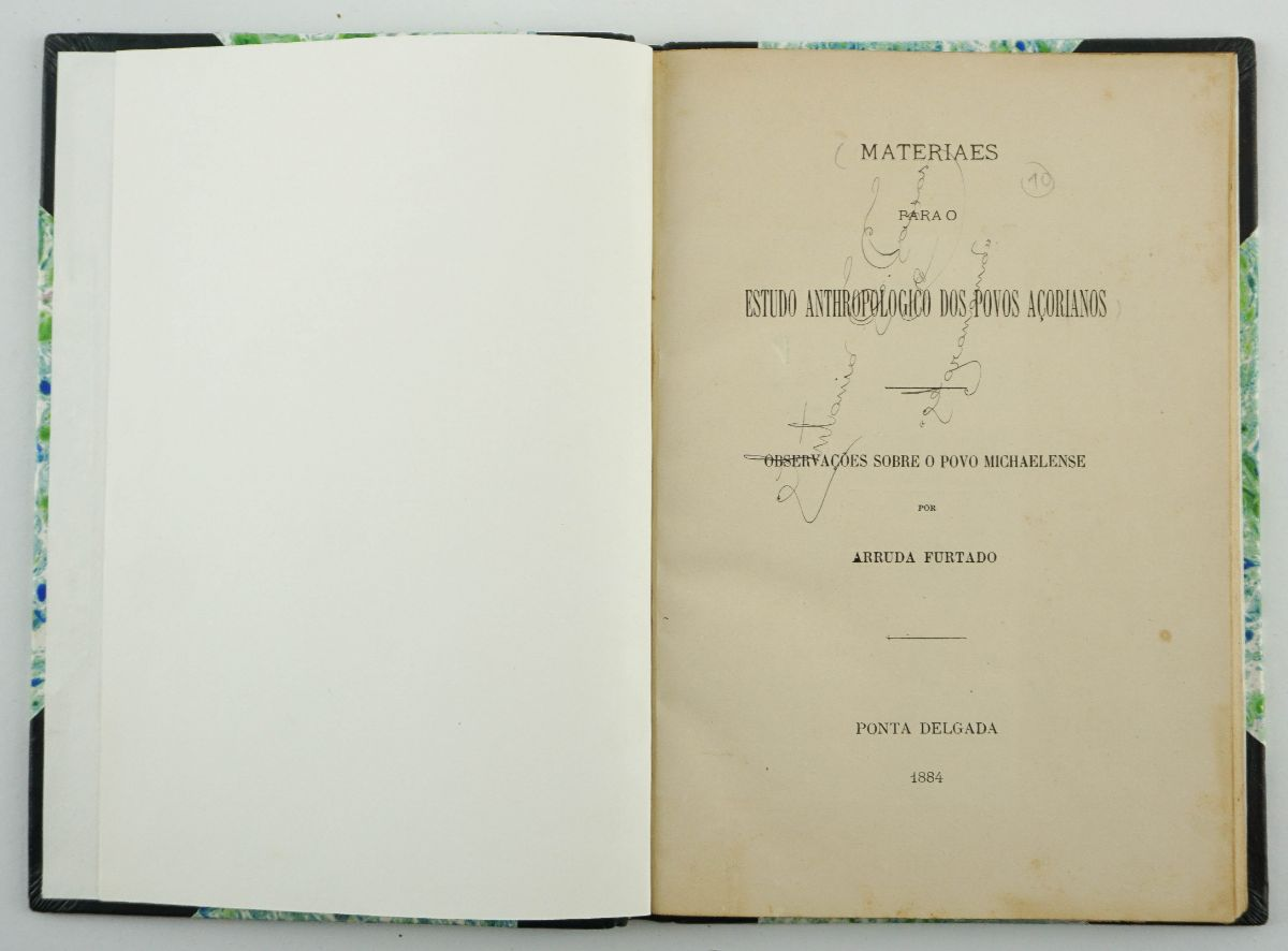 OBRA RARA SOBRE OS AÇORES COM FOTOGRAFIA -1884