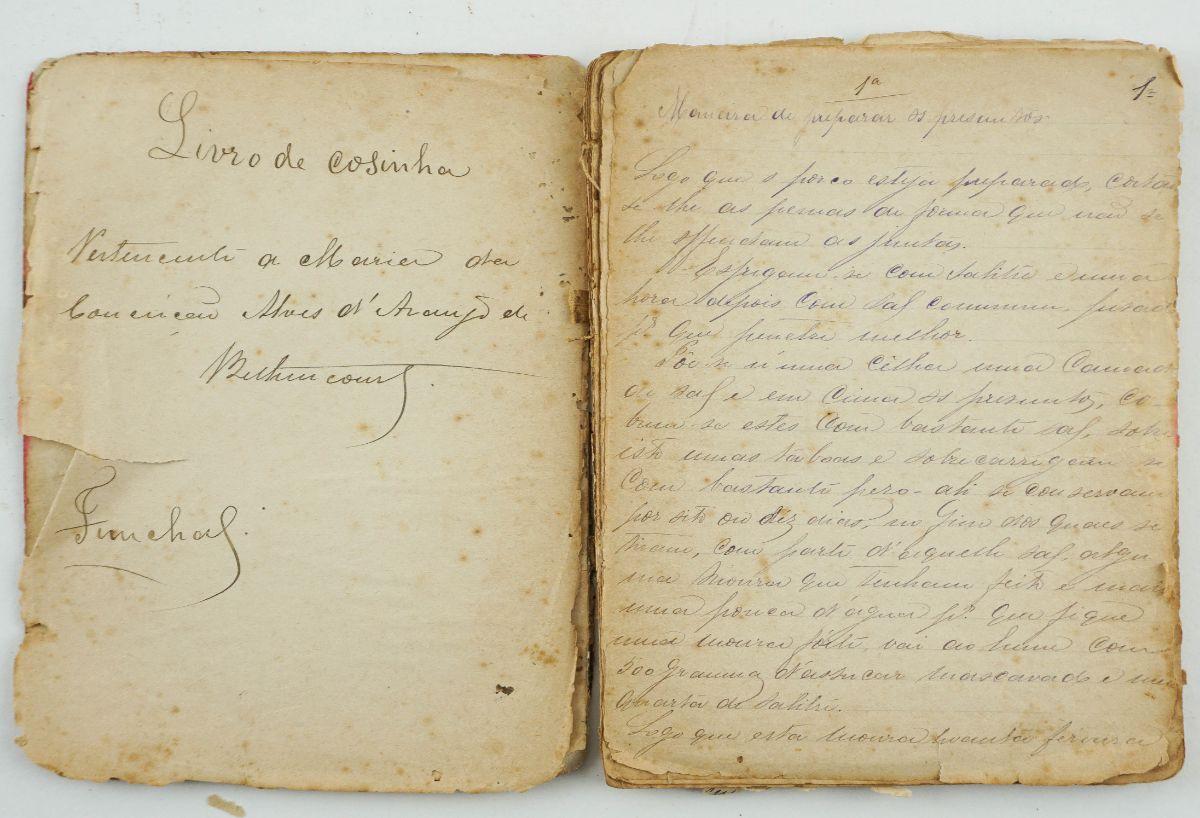 Manuscrito - Livro de Cozinha do Funchal