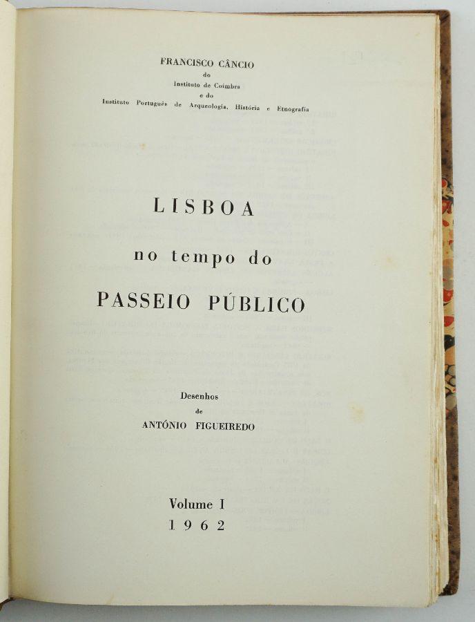 Francisco Câncio – Lisboa no tempo do Passeio Público
