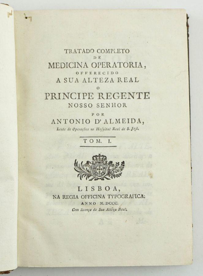 Importante tratado de Medicina Português - com gravuras