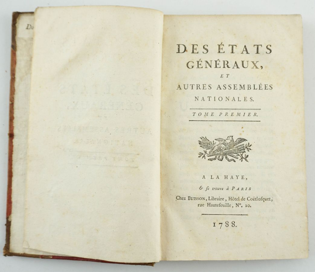 Primeira edição dos Estados Gerais. Revolução Francesa - 1788 - 1789