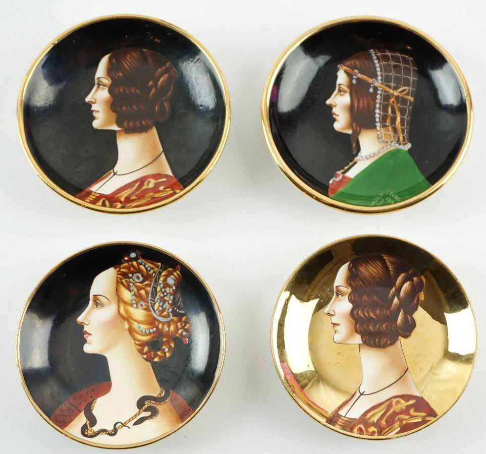 4 Pratinhos pequenos (Majolica Artística Italiana)