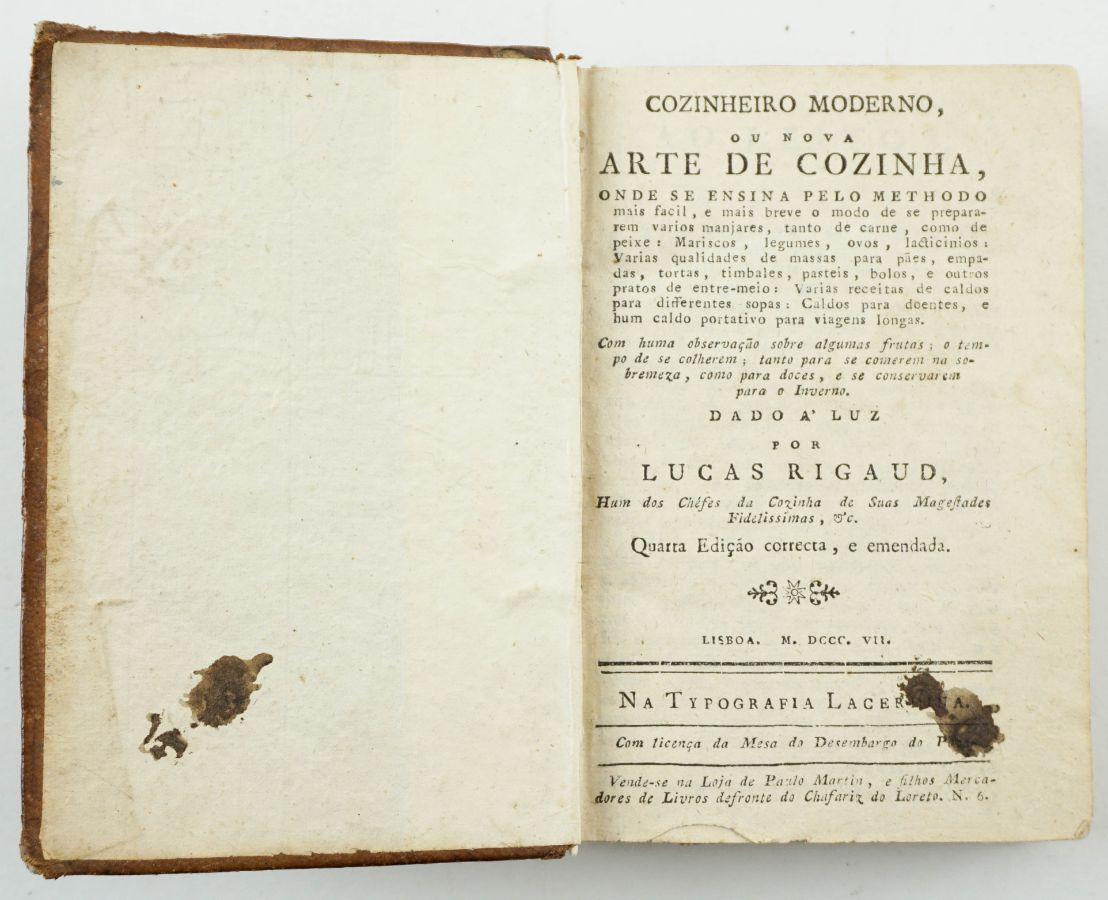 Cozinheiro Moderno ou Nova Arte de Cozinha (1807)