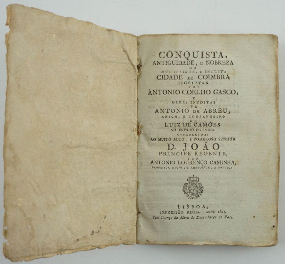 Conquista, Antiguidade, e Nobreza da Mui insigne, e Inclita Cidade de Coimbra (1805)