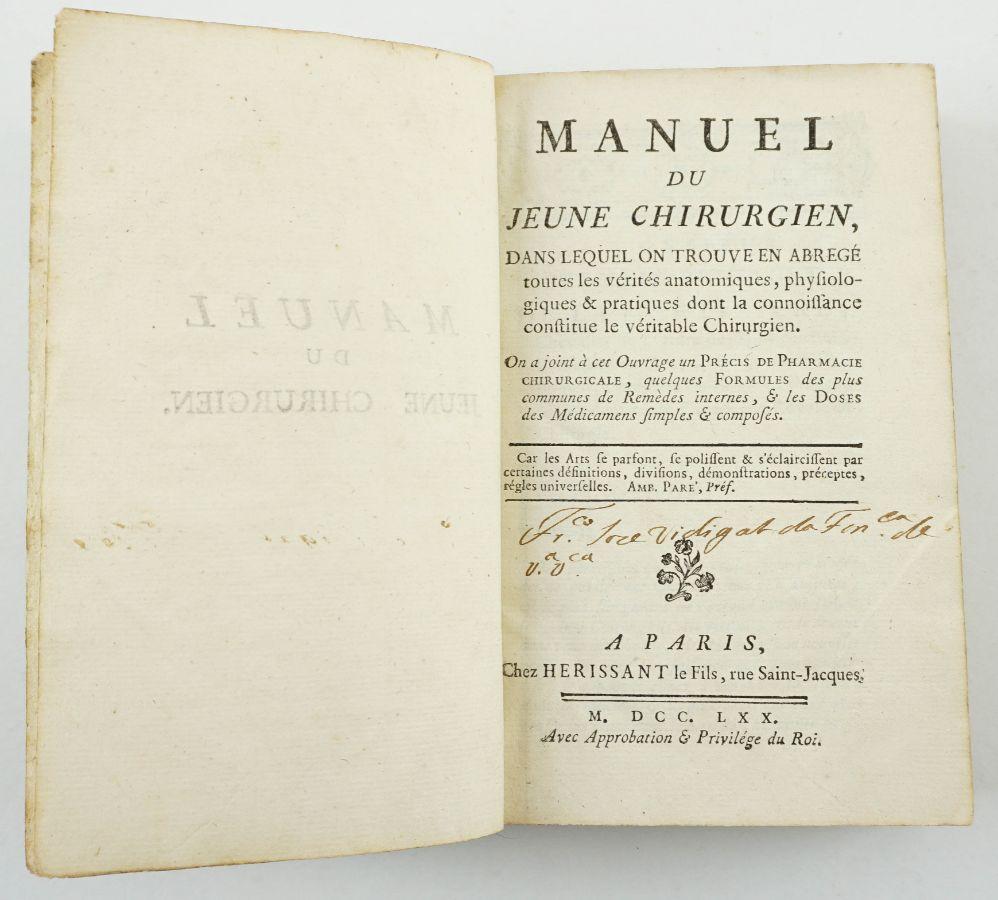 Manuel du Jeune Chirurgien (1770)