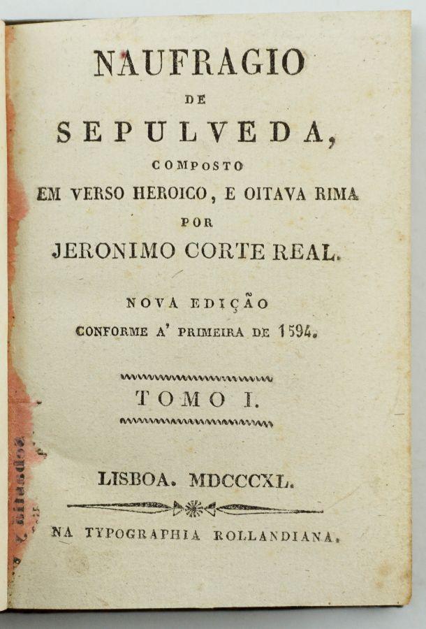 Jerónimo Corte Real – Naufrágio de Sepulveda (1840)