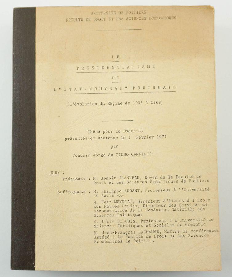 Jorge Campinos – Tese de doutoramento (1971)