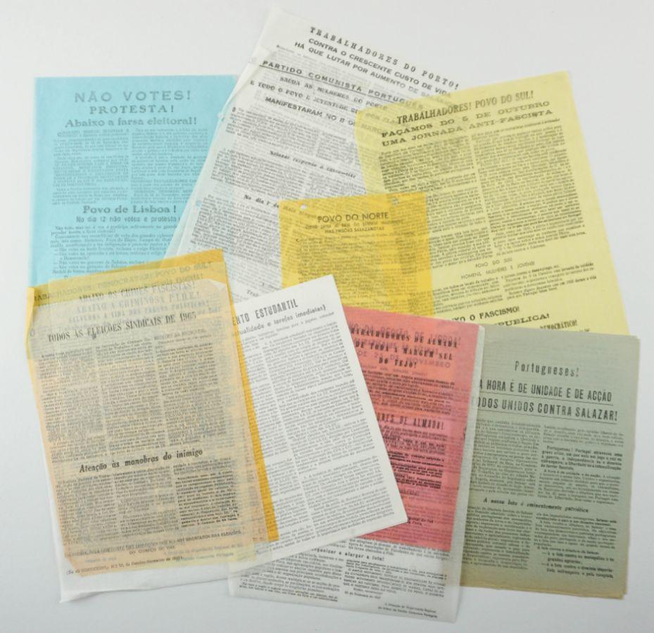 Partido Comunista Português – panfletos clandestinos (1960-1963)