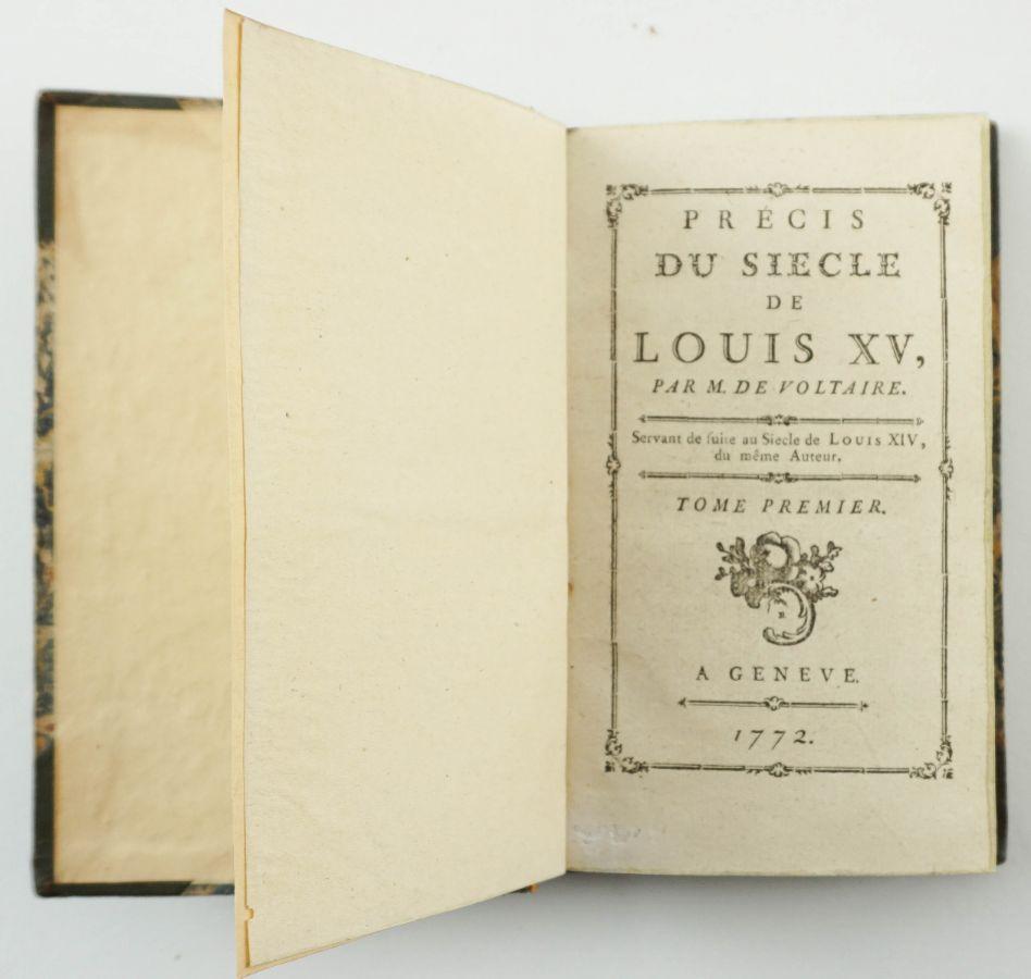 Voltaire – rara edição (1772)