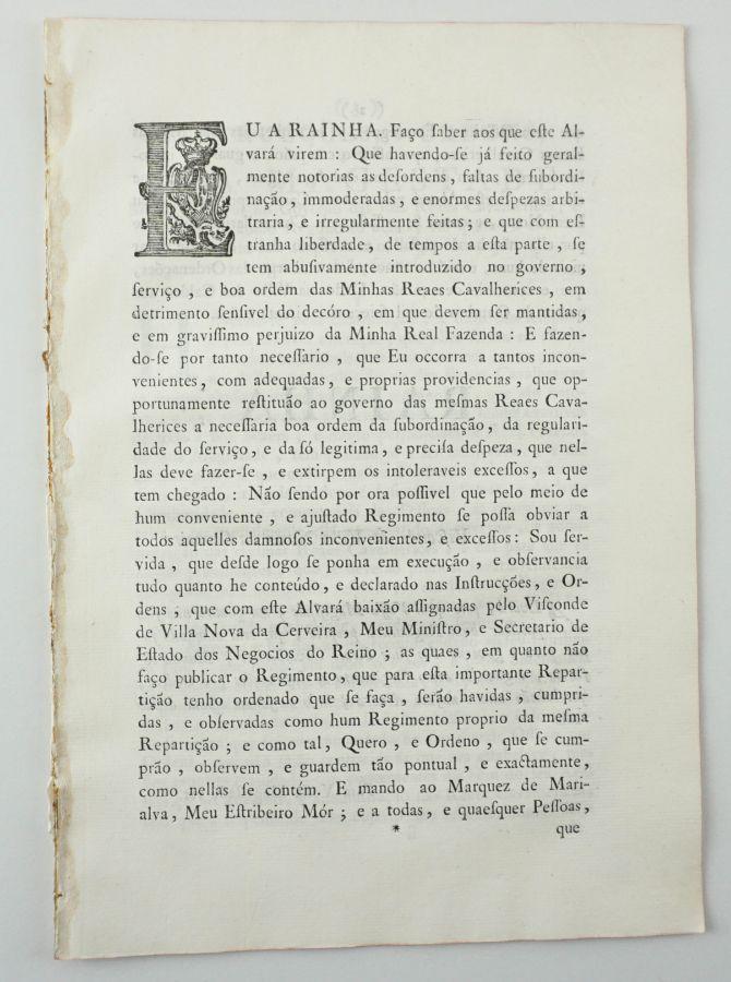 Reais Cavalariças (1786).