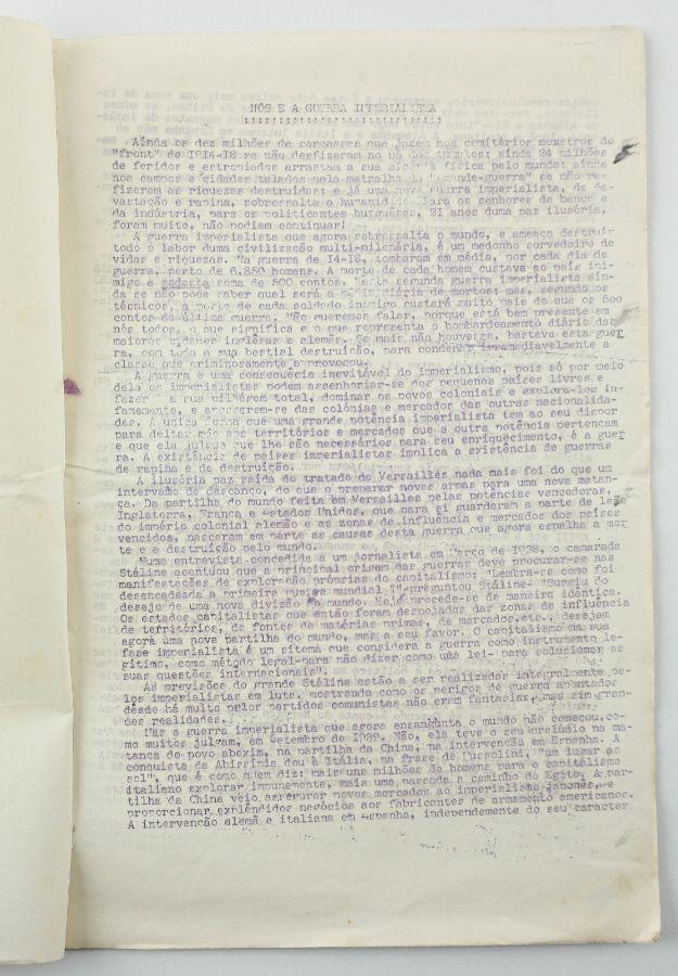 O Partido Comunista Português e a II Guerra Mundial (1941)