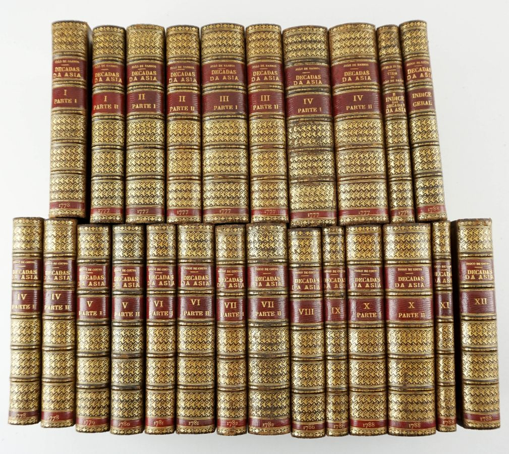 Da Asia de João de Barros e de Diogo de Couto. 24 volumes 1778