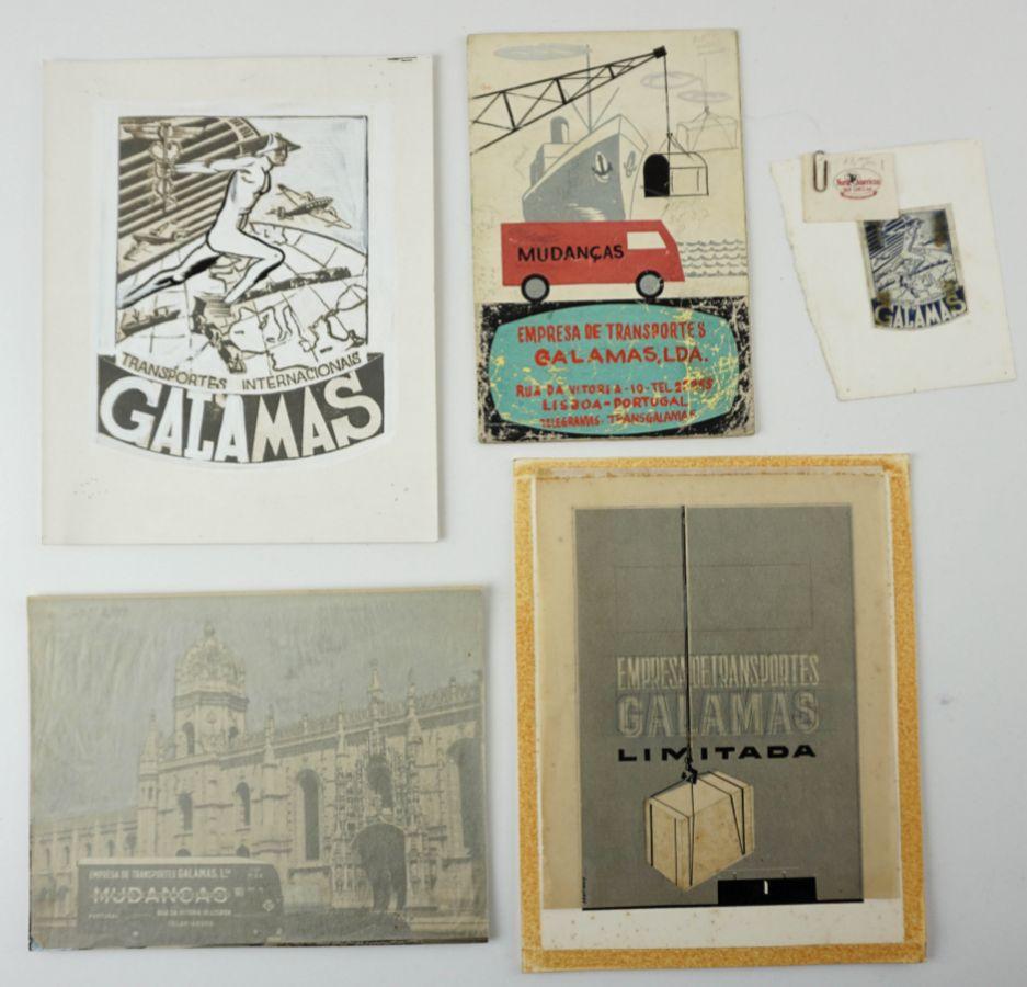 Desenhos e Maquetes Publicidade anos 50