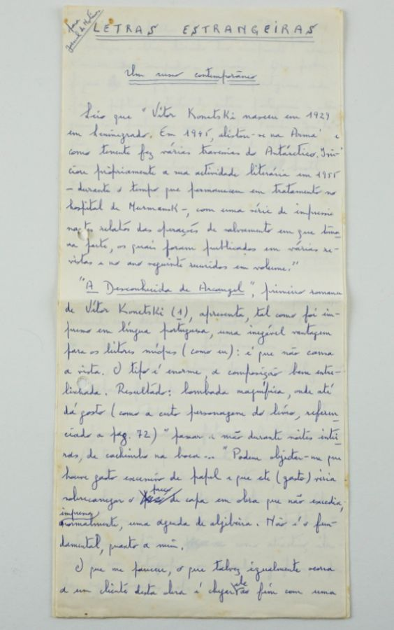 Luíz Pacheco – Manuscrito