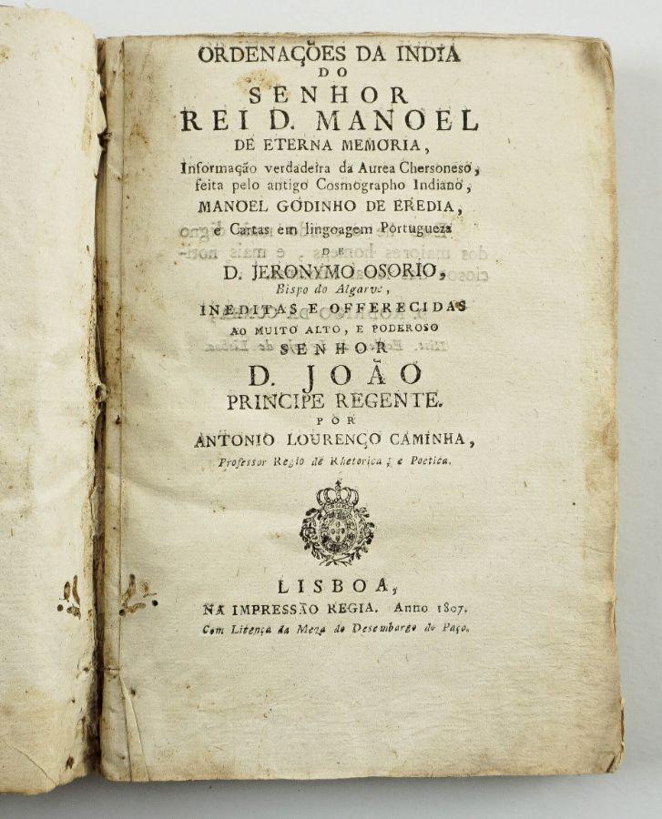 Ordenações da Índia do Senhor Rei D. Manoel (1807)