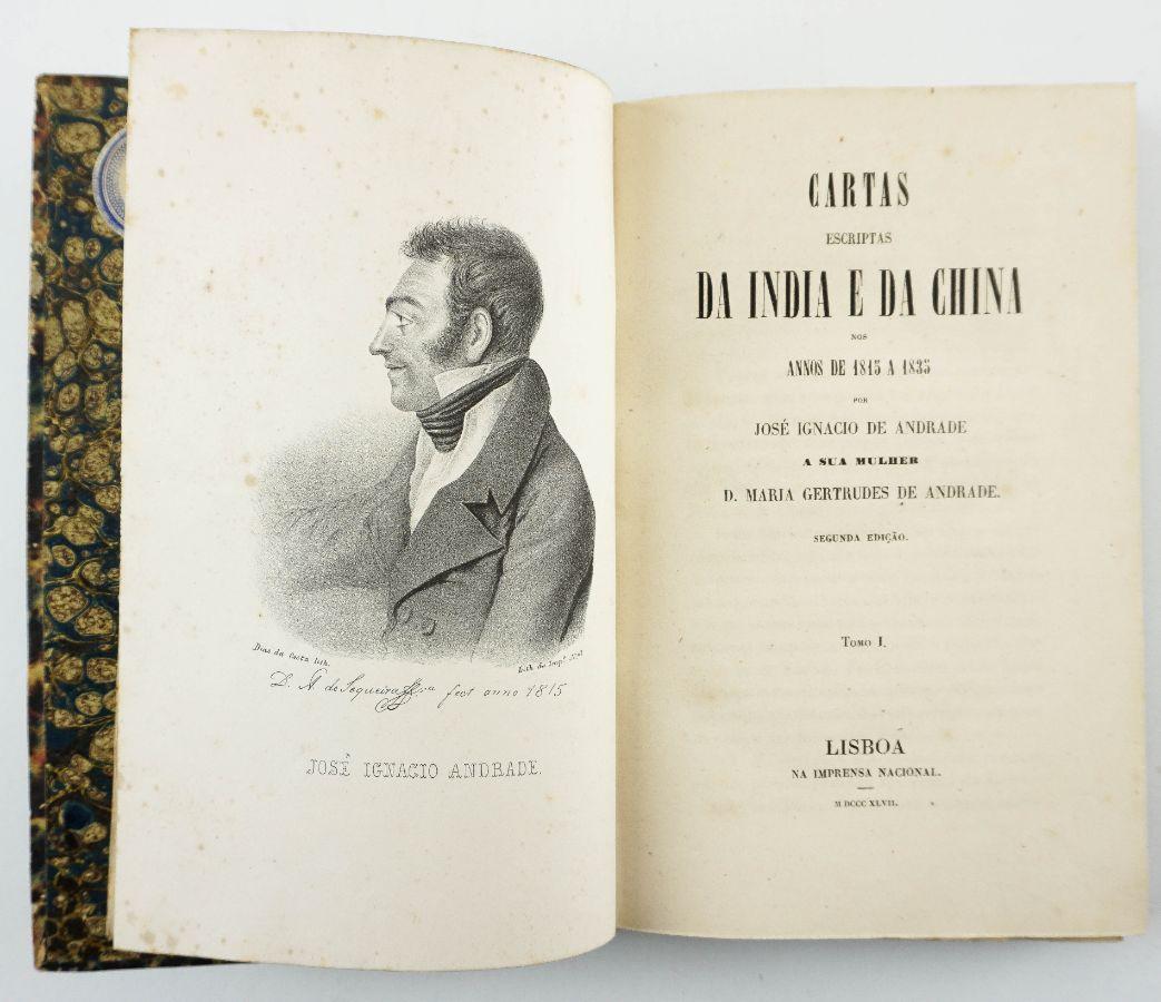 Cartas Escriptas da India e da China (1847)