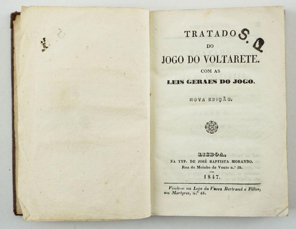 Tratado do Jogo do Voltarete (1847)