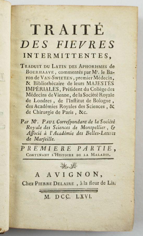 Traité des Fievres Intermittents (1766)