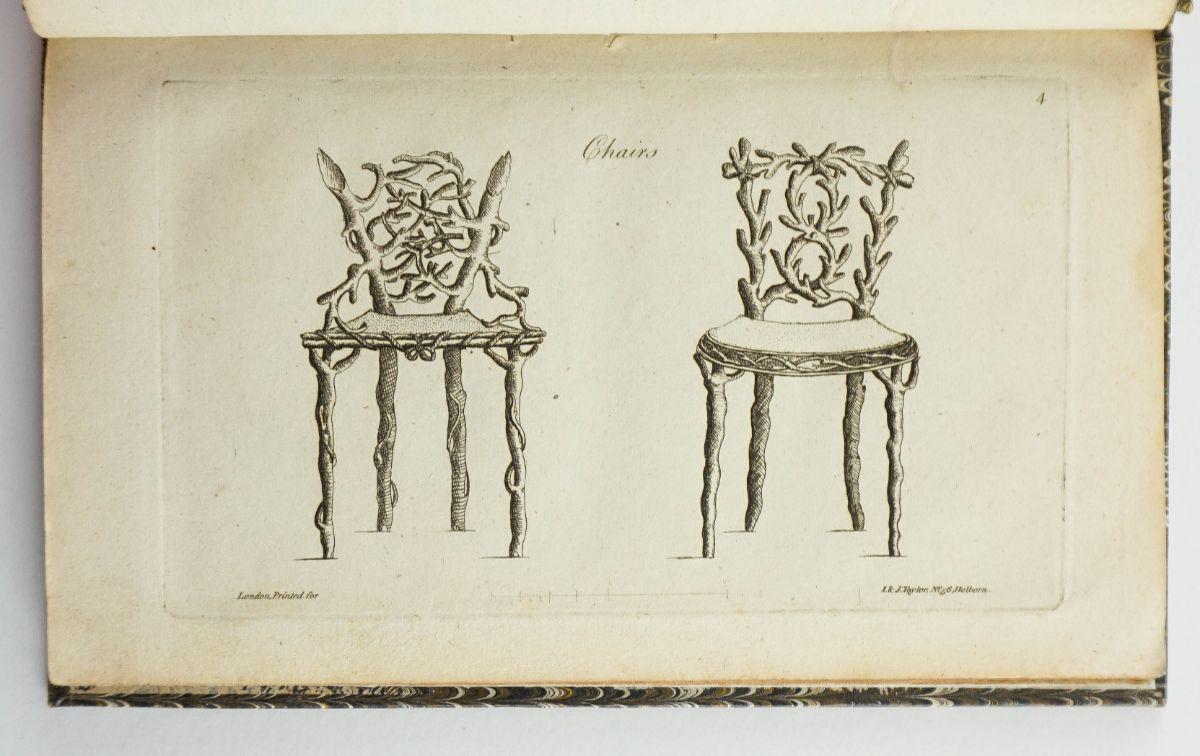 Importante catálogo de mobiliário do séc. XVIII