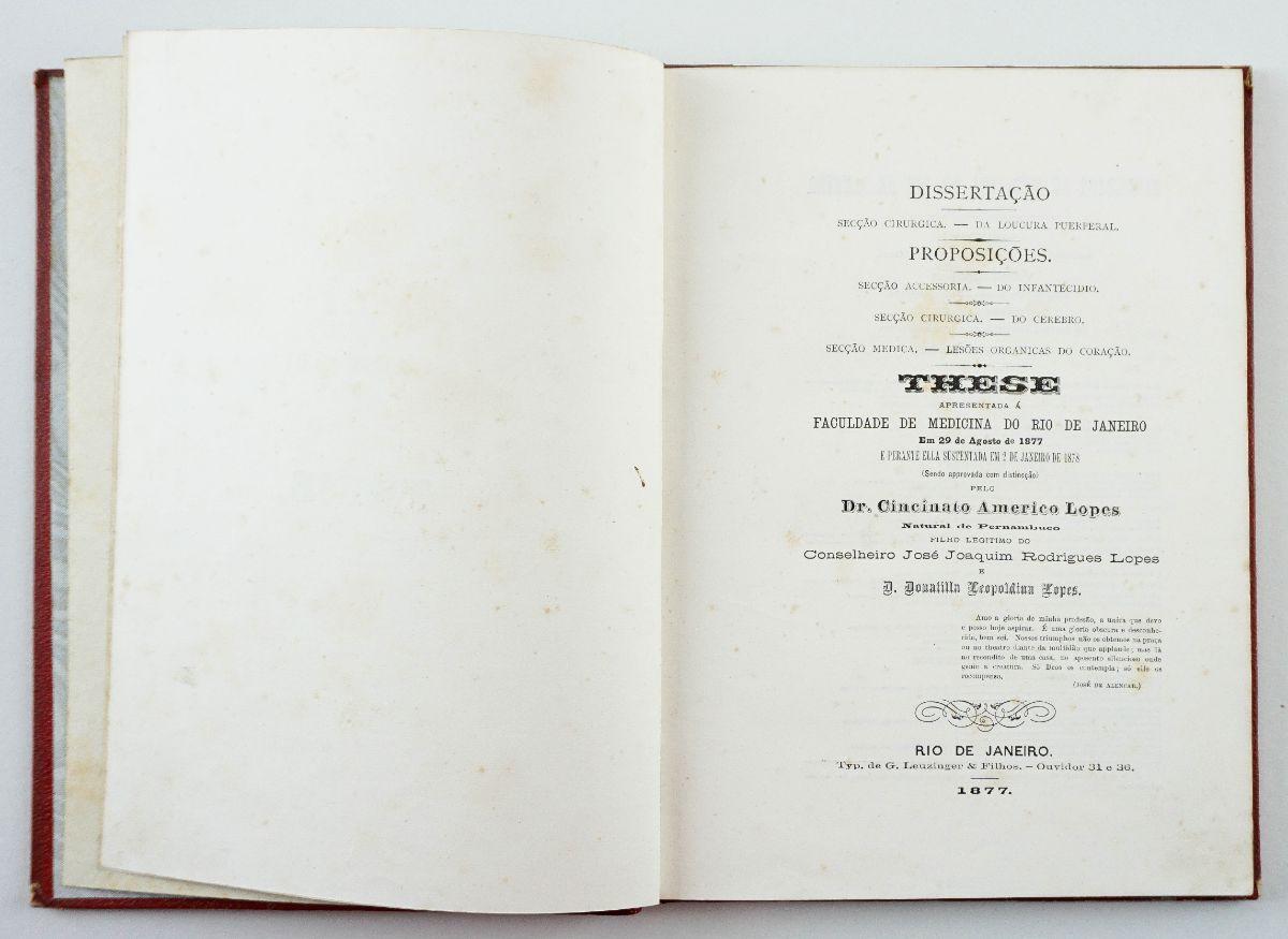 Tese de cardiologia de médico brasileiro - 1877