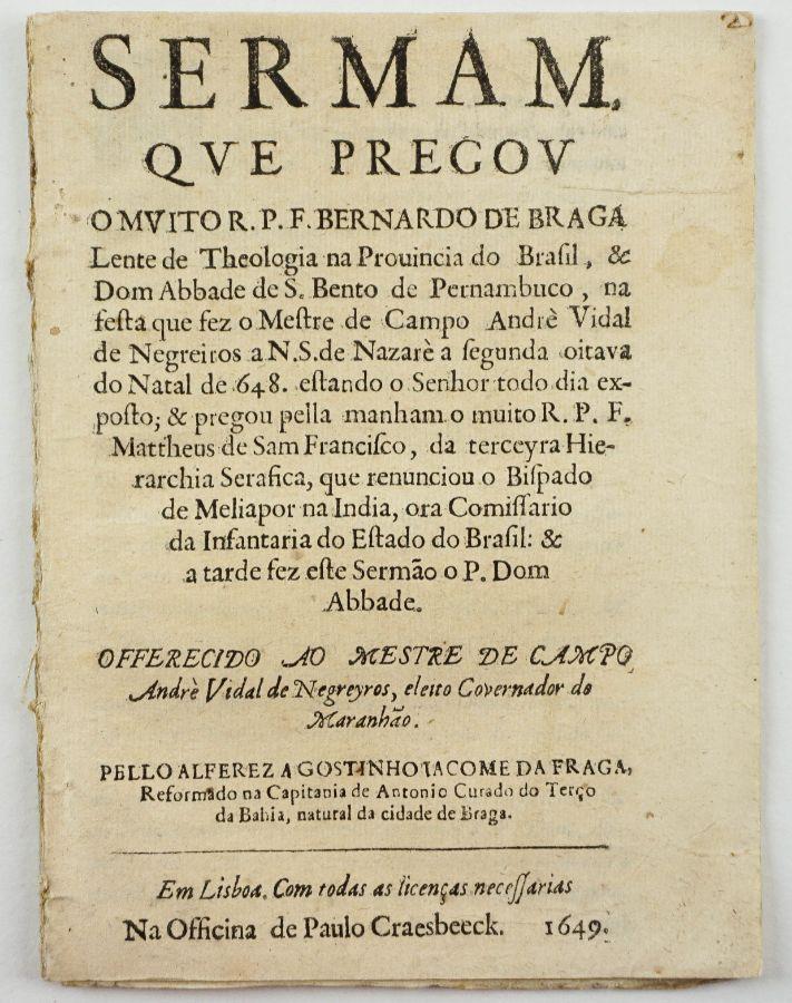 Sermão no Brasil - 1649