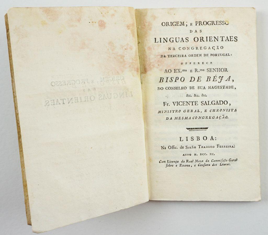 Origem e Progresso das Línguas Orientais - 1790