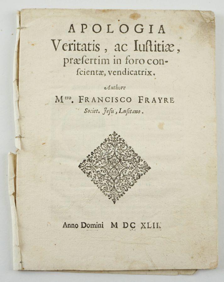 Raro folheto da Restauração - 1642