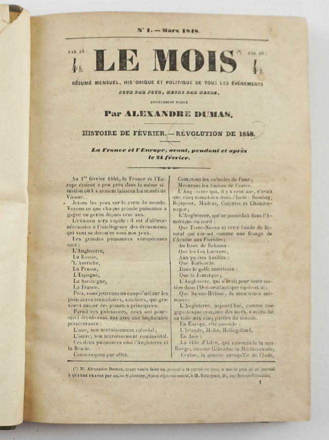 Le Mois - Alexandre Dumas