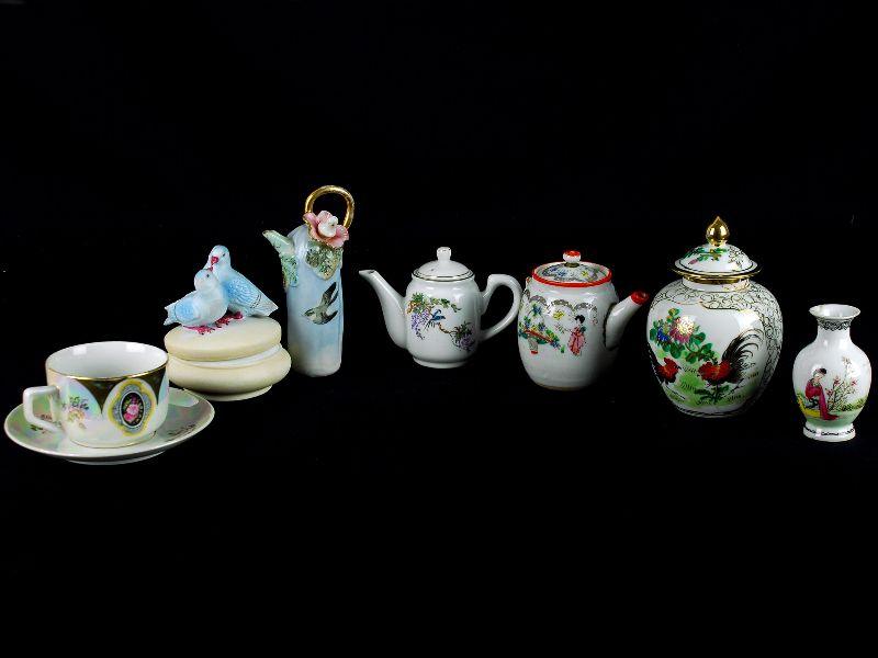 7 Peças de Porcelana